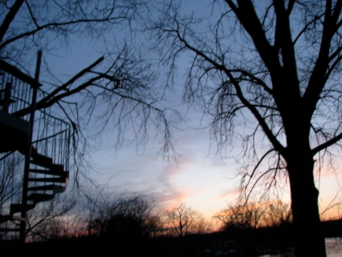 Feb. 28, 2009 - sunset at the Briber's cottage