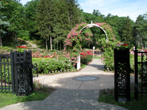 main entryway to the Central Park Rose Garden in Schenectady NY - 20June2011