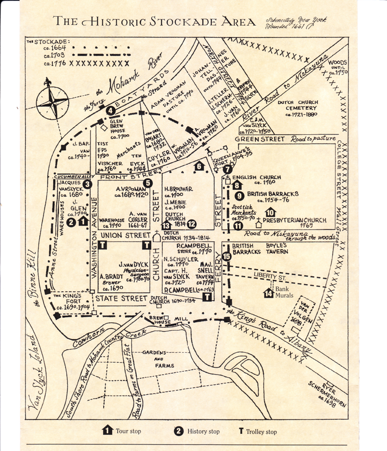 map of stations and activities 52nd Annual Stockade Walkabout