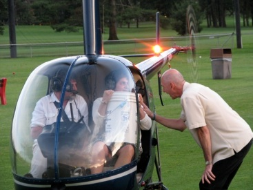 GBD09 - Maria Sunukjian and James Lamar at helicopter