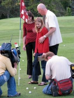 Golf Ball Drop 2009 - winning balls examined