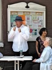 Polachek Square dedication - Peter Polachek gives thanks 13June2009