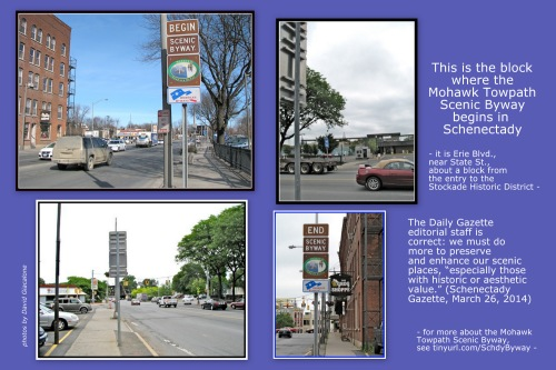 a collage supporting the preservation of places along our scenic byways