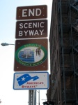 Scenic Byway Ends SIgn – Erie Blvd at State St.,Schenectady