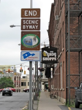 Mohawk Towpath Scenic Byway Ends - at Grog Shoppe, Schenectady, NY