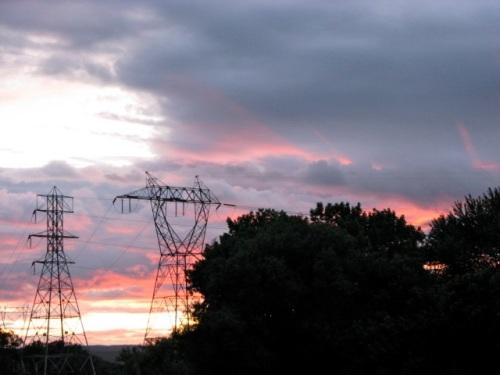 Solstice Sunset - Cayuga Isle towers