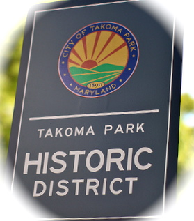Takoma Park Historic District Sign
