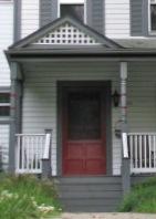 TP burgundy door