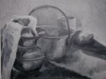 B&W still life (oil, 2004) by ElizabethMacFarland