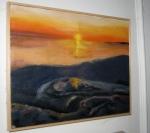 Elizabeth MacFarland oil painting (20020 – sunset on alake