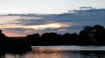 NW sunset view from Schenectady's Riverside Park –03July09