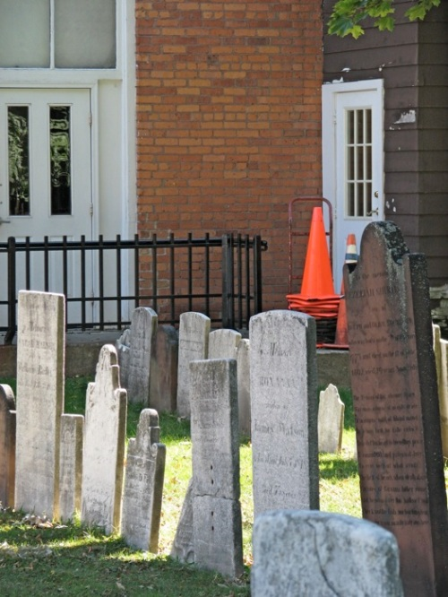 Orange Cone at the 1st Presbyterian Cemetery - 01Sept2008 -