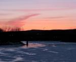 Orange Sunset over the Mohawk River –24Feb09