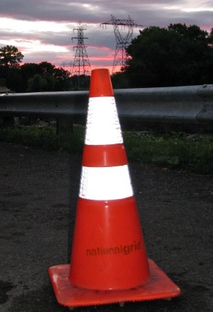 Orange Cone at Sunset along the Mohawk - 23June2009