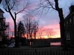 late sunset – 11Mar09 – street view at 16 WashAv