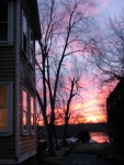sunset – 11Mar09 – alongside 2 CucumberAlley
