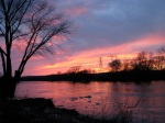 late sunset – 11Mar09 – Riverside Park view of Isle of theCayugas