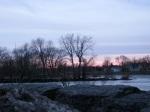 sunset from Washington Ave at Mohawk River –1Mar09