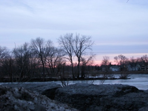 sunset from Washington Ave at Mohawk River - 1Mar09