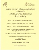 Family & Child Service of Schenectady Aerobathon Flier - Sept. 20, 2009 fundraising event