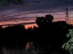 pastel sunset, with flash, from 16 Washington Ave. –11Aug09