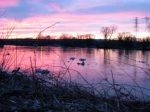 pastel sunset after the ice jam –11Mar09