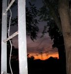 porch view of sunset using a flash –08Aug09
