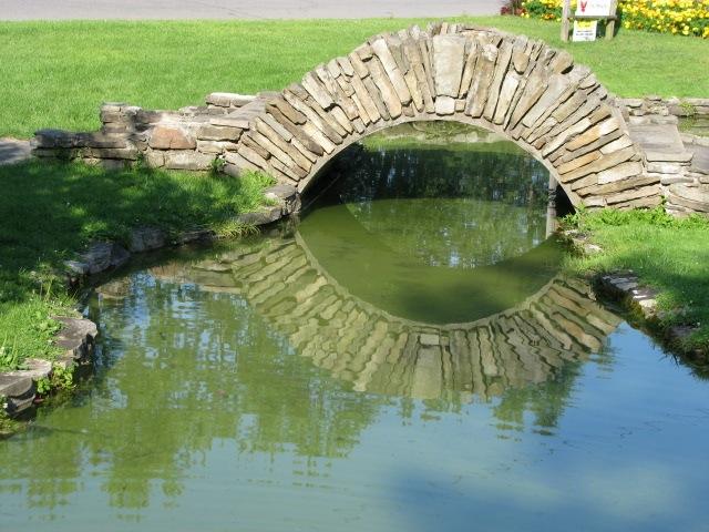 Pond bridge central park rose garden schenectady for Garden pond bridge