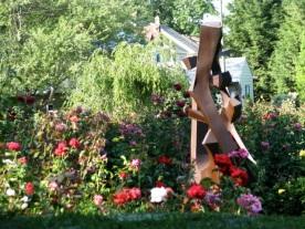 view northeast - from Yuan sculpture - Schenectady Rose Garden 03Aug09