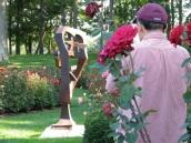 Yu Chang snapping Yuan Sculpture - Central Park Rose Garden, Schenectady 03Aug09