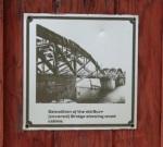 Burr Bridge Demolition – Plaque at Washington Ave. deadend,Scotia