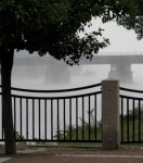trestle view from esplanade – Riverside Park – 8 AM21Sep09