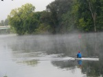morning rower along misty Isle of the Cayugas –21Sep09