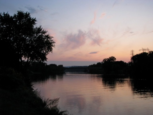 Labor Day 09 - sunset from the western end of Riverside Park, Schenectady