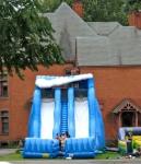 big blue slides, 1st Presbyterian Church parking lot, Schenectady Stockade –12Sep09