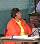 Connie Colangelo briefly gets to sit down12Sep09