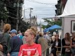 Stockade Art Show crowd under threatening skies on N.Ferry St. – 12Sep09