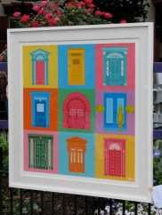 Rob Gavel silkscreen of Stockade doors - 2nd Place and Ernest A. R. Cohen Award for 2009