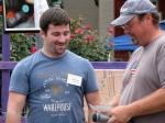 Erik Laffer receiving the 1st Place Award from Matt Volks –12Sep09
