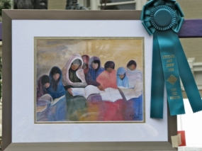 winning piece by Shanta Nair for 1st Time Exhibitor - 12Sep09