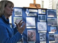 Walkabout 2009 - student from SCCC's Community Archeology Program explains project Searching for the 1680 Stockade wall, at 32 Front St. home of Robert Woods