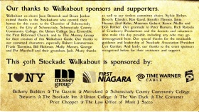 Walkabout2009 - list of sponsors, supporters, committee volunteers