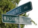 street signs, Washington Ave. at Schonowee Ave, Scotia NY07Sep09