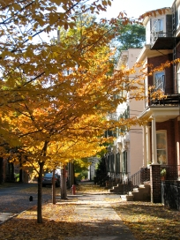 sidewalk scene looking south near 16 Washington Ave. , Schenectady - 26Oct09