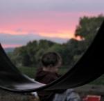 Impressionist Sunset – Devin at Riverside Park, Schenectady –03Oct09