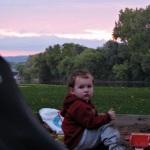 swingset sunset – Devin wants to stay at Riverside Park a little longer –03Oct09