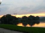 swingset sunset- from Riverside Park kiddie lot, Schenectady –03Oct09