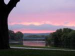 swingset sunset – last phase – from eastside of Riverside Park –03Octo09