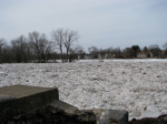 Mohawk River ice jam seen from end of Washington Ave. Schenectady –08Mar09