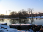 Mohawk River from the end of Washington Ave., Schenectady –24Feb08